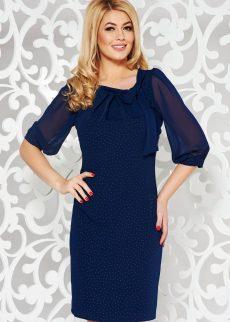 rochie albastra inchis eleganta cu croi larg din v S040575 1 396609
