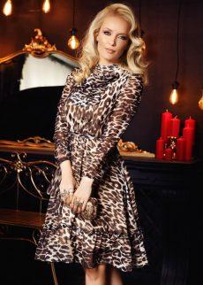 rochie fofy neagra eleganta in clos din voal cu an S041420 1 402637