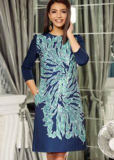 rochie fofy verde office cu croi in a din material S039741 2 383327