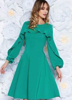 rochie ladonna verde eleganta in clos din stofa us S041962 1 408190