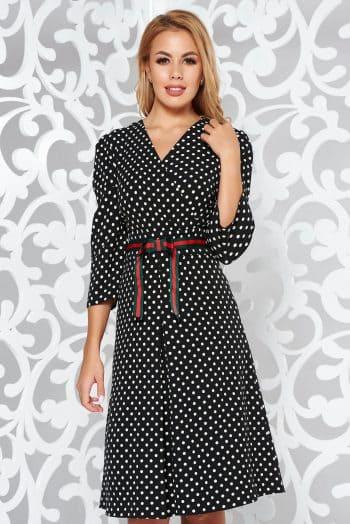 rochie neagra eleganta in clos material fin la ati S038850 1 378683