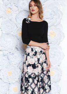 rochie neagra eleganta midi in clos di S041852 1 407906