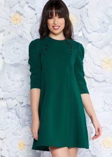 rochie verde de zi cu croi larg cu maneci S040657 3 409089
