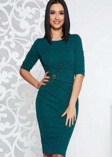 rochie verde inchis de ocazie midi tip creion din S041311 1 405807
